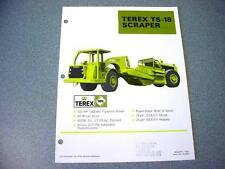 2 Pieces Terex Ts-18 & S-23E Scraper Literature