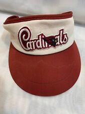 St Louis Cardinals Football NFL Vintage Made USA Adjustable Adult Visor Cap Hat