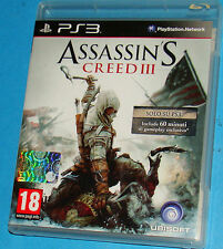 Assassin's Creed 3 - Sony Playstation 3 PS3 - PAL
