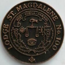 MASONIC MARK TOKEN PENNY LODGE ST MAGDELENE No 100