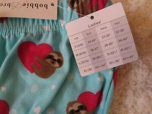 Brooks Sloth Lounge/Pajama Pants Size S NWT