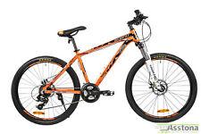 MTB Mountainbike 26 Zoll 24 Gang Fahrrad Orange Federgabel Scheibenbremsen