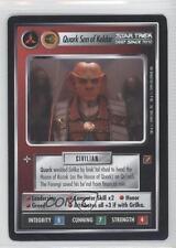 1999 Star Trek Customizable Card Game: Blaze Glory #NoN Quark Son of Keldar 0f6