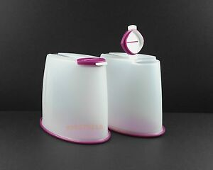 Tupperware Premium Canister / Cereal Dispenser Set of 2 (1.6L) + Free Shipping