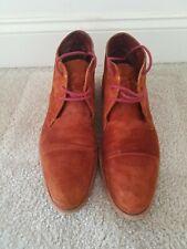 COLE HAAN Men's 10 Vincenti Cap Toe Rust Suede Boot
