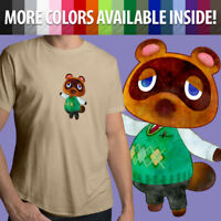 Animal Crossing Tom Nook Tanuki Nintendo Video Game Unisex Mens Tee Crew T-Shirt