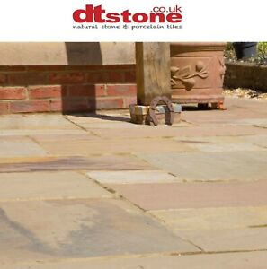 FAWN BEIGE NATURAL RIVEN INDIAN SANDSTONE PATIO PAVING STONE