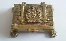 vintage brass snuff box