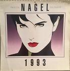 "Patrick Nagel Calendar 1993 Art Prints Large 15""x15"""