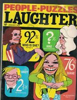 People Puzzles Laughter Magazine January 1976 Andy Warhol Mae West Diane Keaton