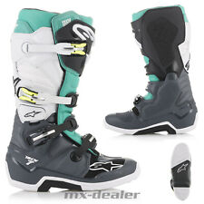 Alpinestars Tech7 Tech 7 Stiefel grau teal mx motocross Enduro Cross boot