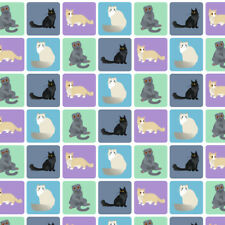 Pastel Cats Munchkin Ragdoll Premium Roll Gift Wrap Wrapping Paper