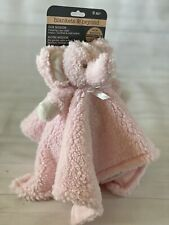 NWT Blankets and Beyond Baby Security Blanket Pink Elephant Plush Sherpa Lovey