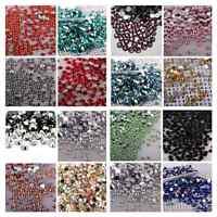 2000 Crystal Flat Back Rhinestones Gems Diamante Bead Nail Art Crafts 3mm- 5mm