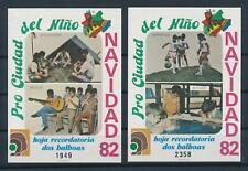 [103598] Panama 1982 Children football music 2 Souvenir Sheets MNH
