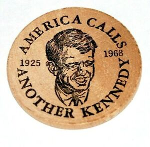 1968 AMERICA CALLS ANOTHER KENNEDY Robert Bobby RFK campaign pin pinback button