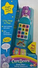 ~ Care Bears - SHARE BEAR TALKING TELEPHONE PHONE PLAY TOY KIDS BABY NURSEY