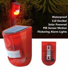 Solar Alarm Light Wireless IP65 waterproof Motion Sensor Outdoor Security Lamp