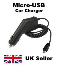 NEW MICRO USB IN CAR PHONE CHARGER POWER CABLE LEAD FOR ANDROID MOBILE PHONE UK