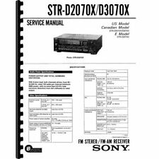 Sony STR-D2070X & STR-D3070X Stereo Receiver Service Manual (Pages: 52)