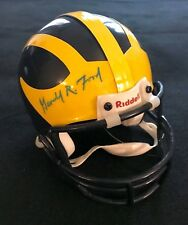GERALD FORD SIGNED MICHIGAN WOLVERINES MINI HELMET PRESIDENT AUTOGRAPH JSA LOA
