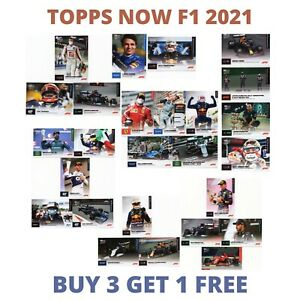 TOPPS NOW F1 CARDS NUMBERS  01-26 FORMULA 1 2021 TRADING CARDS- CHOOSE FROM LIST