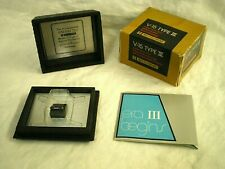 SHURE V-15 Type III SUPER-TRACK PLUS Phono Cartridge DISPLAY CASE, Manual, Box +