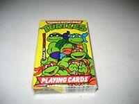 Vintage 1990 Teenage Mutant Ninja Turtles Playing Cards Yellow Sealed