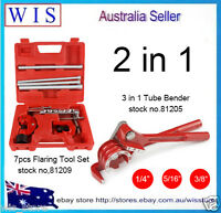 Flaring Tool 7PC Kit Pipe Cutter & 180° 3 in 1 Tube Bender,Plumbing Tools Set