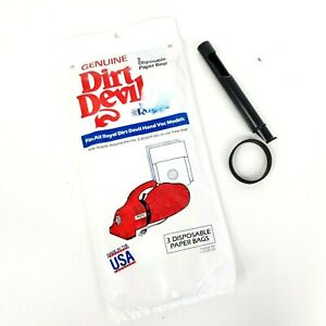 Dirt Devil Royal Vacuum Bags Type G Pack of 3 with Belt & Tool for Hand Vac
