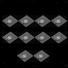 10 Pieza Gancho Percha Adhesiva Organizador Casero Poseedor Multifuncional