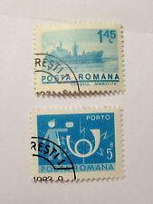 Romania 2 Romanian Postage Stamps, Posta Romana, Hinged, No Reserve!!!