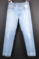 VTG 80s LEVI'S 501 XX Button Fly Denim Jeans USA Mens Size 35x38 Actual (32x35)