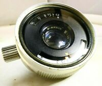 Nikon W-Nikkor 35mm f2.5 Chrome Lens for Nikonos underwater - AS IS for PARTS