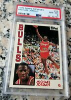 MICHAEL JORDAN 1984 Topps GLOSSY RARE Rookie Card RC PSA 8 Chicago Bulls 1992 $$