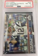Tom Brady New England Patriots Super Bowl 50 #302 Psa 8 Topps Low Pop