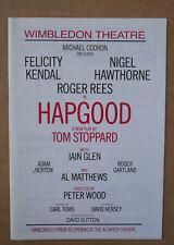 HAPGOOD FELICITY KENDAL Wimbledon theatre programme UK 1988 DIANA RIGG Stoppard