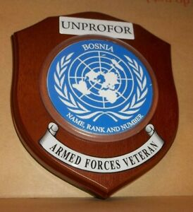 United Nations UNPROFOR  Bosnia Veteran Wall Plaque personalised.
