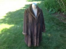 7/8 Swing demy buff  female mink coat,size 12-14 worn two times, exelent cond.