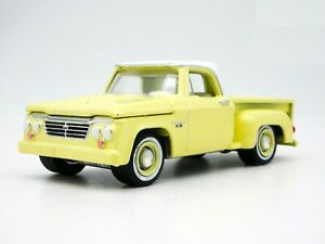 1963 DODGE D-100 PICKUP TRUCK YELLOW #58055 DIECAST SCALE 1/64 NEW