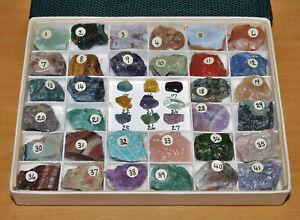 Vintage Treasures of the Earth Set of African Gemstones No.16-41 Pristine in Box