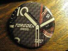 Torgoen Swiss Aviation Pilot Wrist Watch Advertisement Pocket Lipstick Mirror