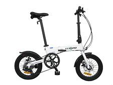 """Ecosmo 16 """" Roue Léger Alliage Pliable Vélo Bicyclette 6 Sp , Double Disque"""