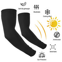 1Pair Compression Arm Sleeve UV Sun Protection Elbow Support Brace For Men Women