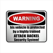 Auto Aufkleber Sticker Warning DACKEL Hunde Einbruch Warnaufkleber Siviwonder