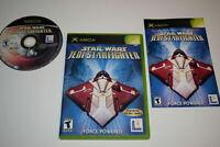 Star Wars Jedi Starfighter Microsoft Xbox Video Game Complete