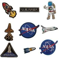 Space style Embroidered Iron On Sew On Patches Badges Transfers Fancy Dress