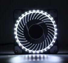White LED fan 120mm 25mm 12V DC 42CFM PC Case Radiator Computer Cooling IDE Fan
