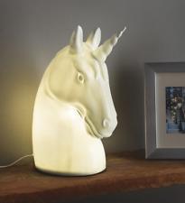 White Ceramic Unicorn Lamp LED Light Girls Bedroom Table Desk Decor Night