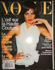 Vogue Paris 3/1999 Kate Moss Ruben Toledo Natalia Semanova Olivier Theyskens